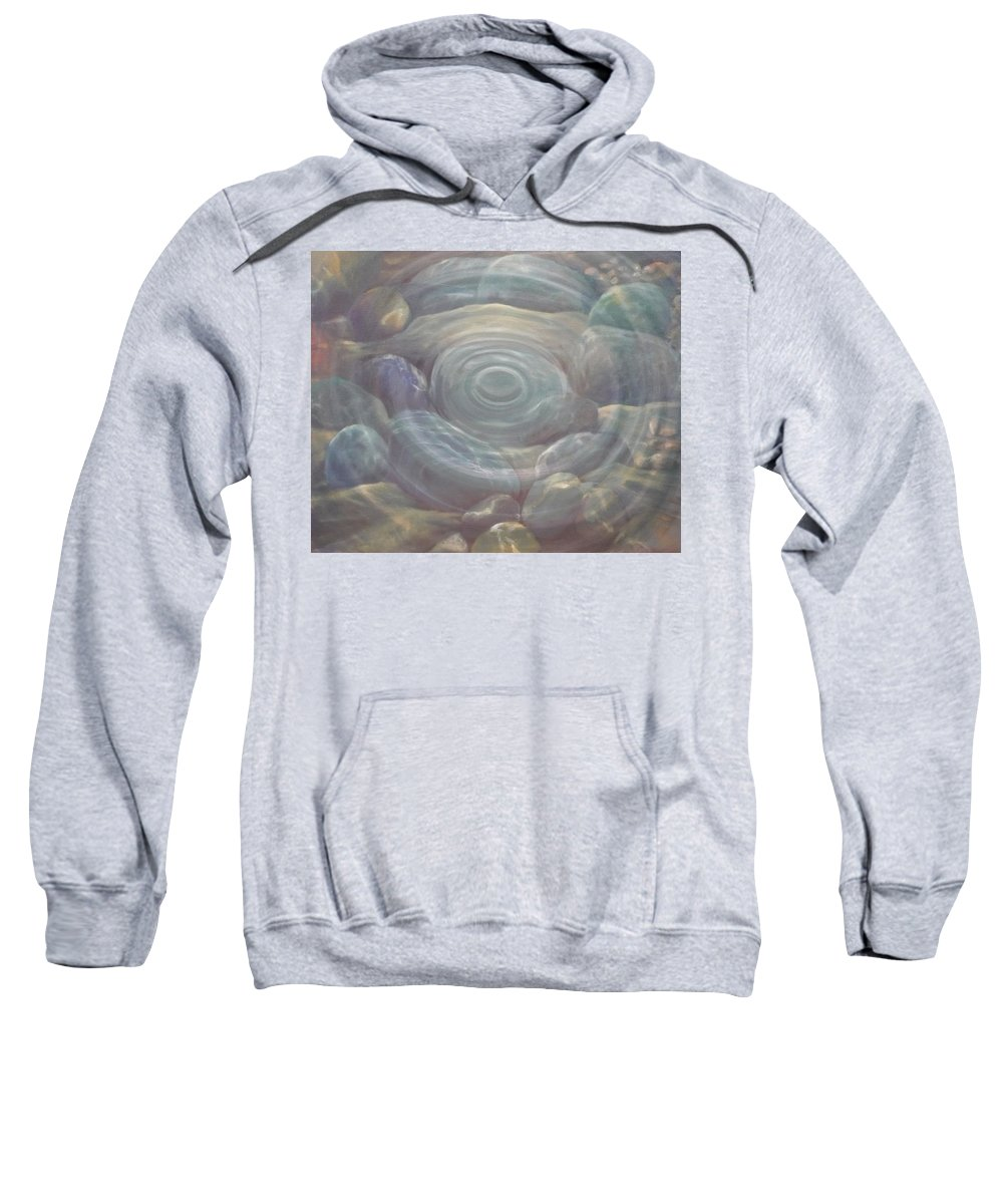 Pebbles Sweatshirt featuring the painting Ripple by Caroline Philp