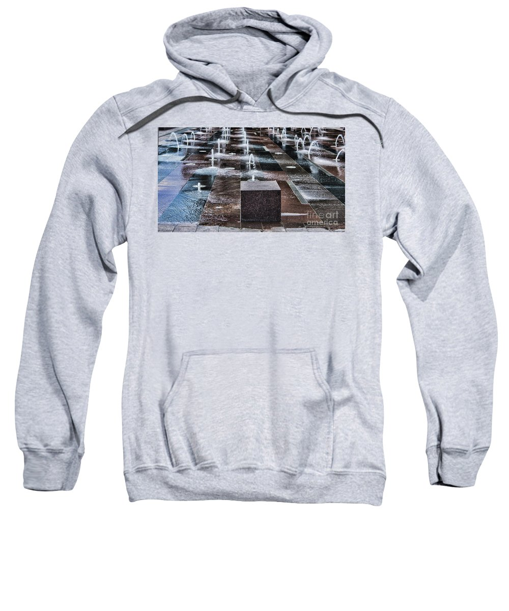 Water Sweatshirt featuring the photograph Rising Up by Steven Parker