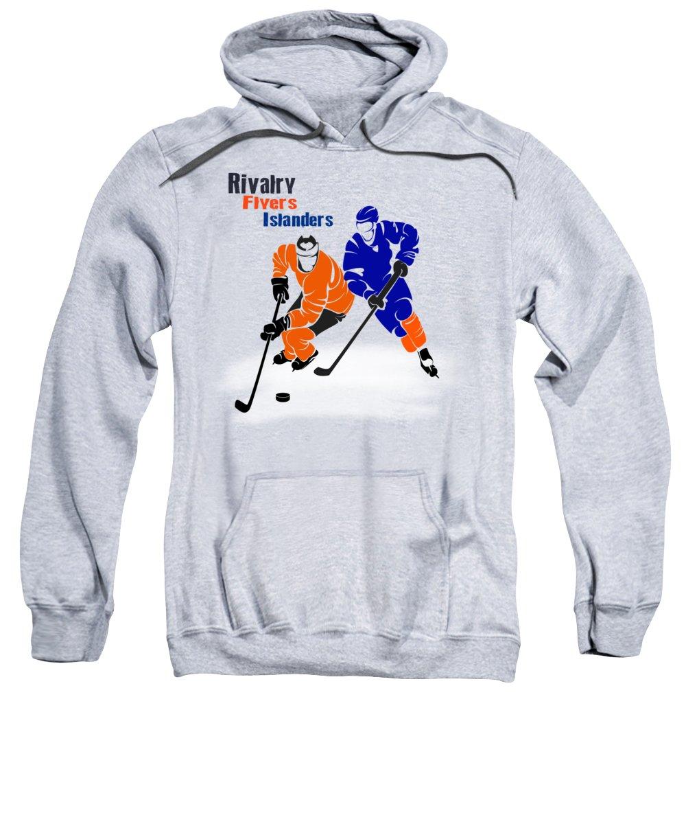 Flyers Sweatshirt featuring the photograph Rivalry Flyers Islanders Shirt by Joe Hamilton