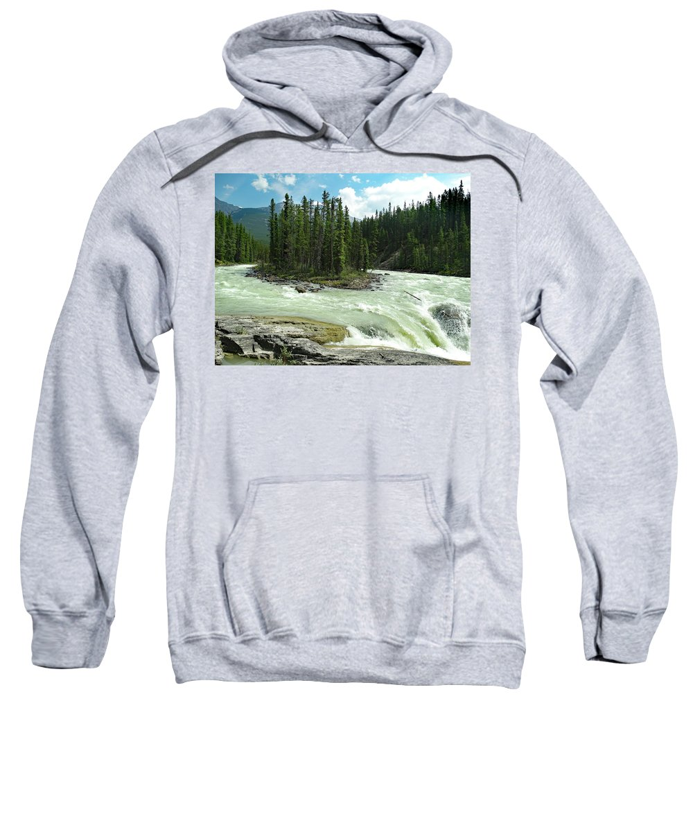 Island Sweatshirt featuring the photograph River Island Flow by David T Wilkinson