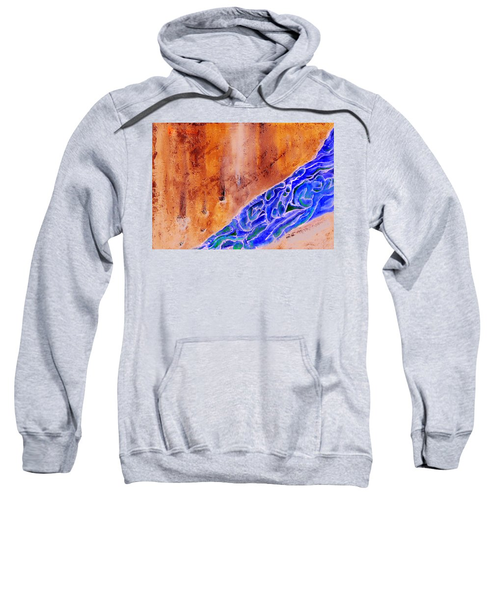 Life Flow River Water People Birth Sweatshirt featuring the mixed media River Of Life by Veronica Jackson