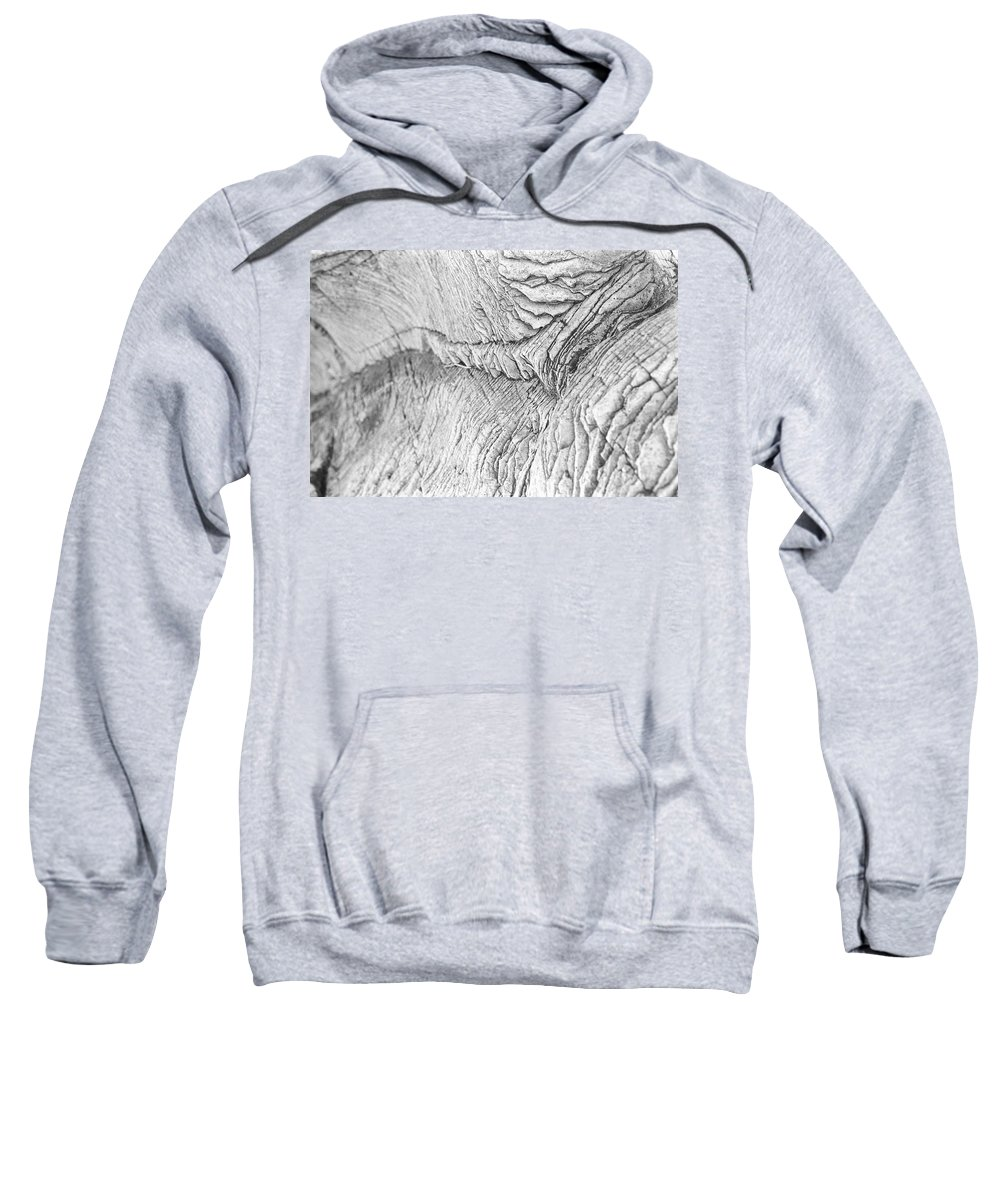 Rock Sweatshirt featuring the photograph River Of Rock by Nathan Crockett