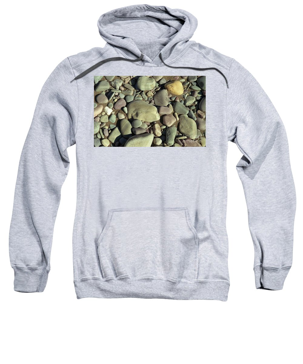 River Rock Sweatshirt featuring the photograph River Rock by Richard Rizzo