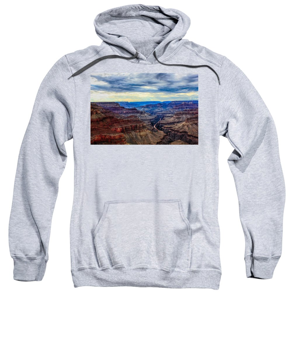 River Sweatshirt featuring the photograph River Through The Canyon by Robert Cox