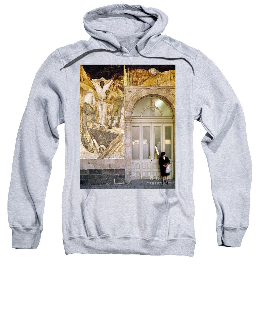 1920s Sweatshirt featuring the photograph Rivera: Leaving The Mine by Granger