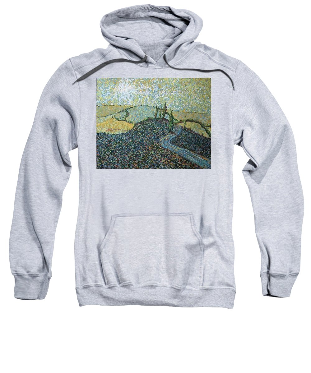 Landscape Sweatshirt featuring the painting Road To Tuscany by Stefan Duncan