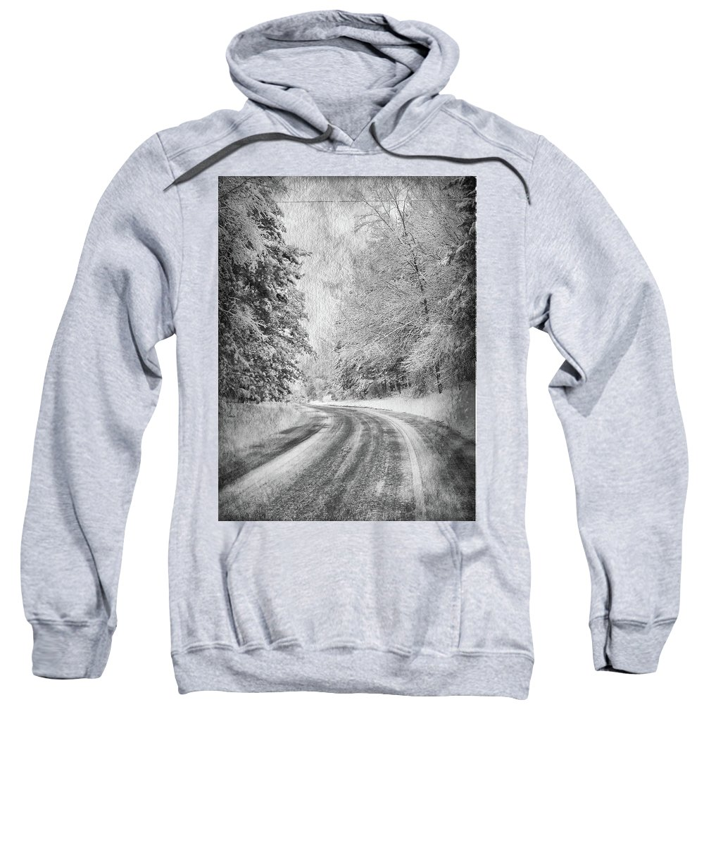 Winter Sweatshirt featuring the photograph Road To Winter by Angela King-Jones