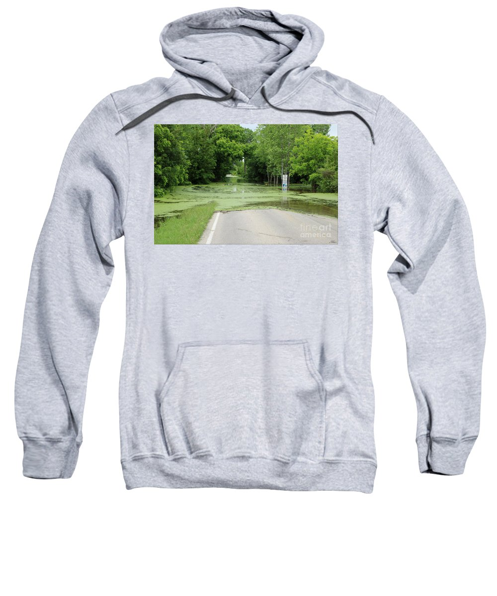 Flood Sweatshirt featuring the photograph Road What Road by Rebecca Morgan
