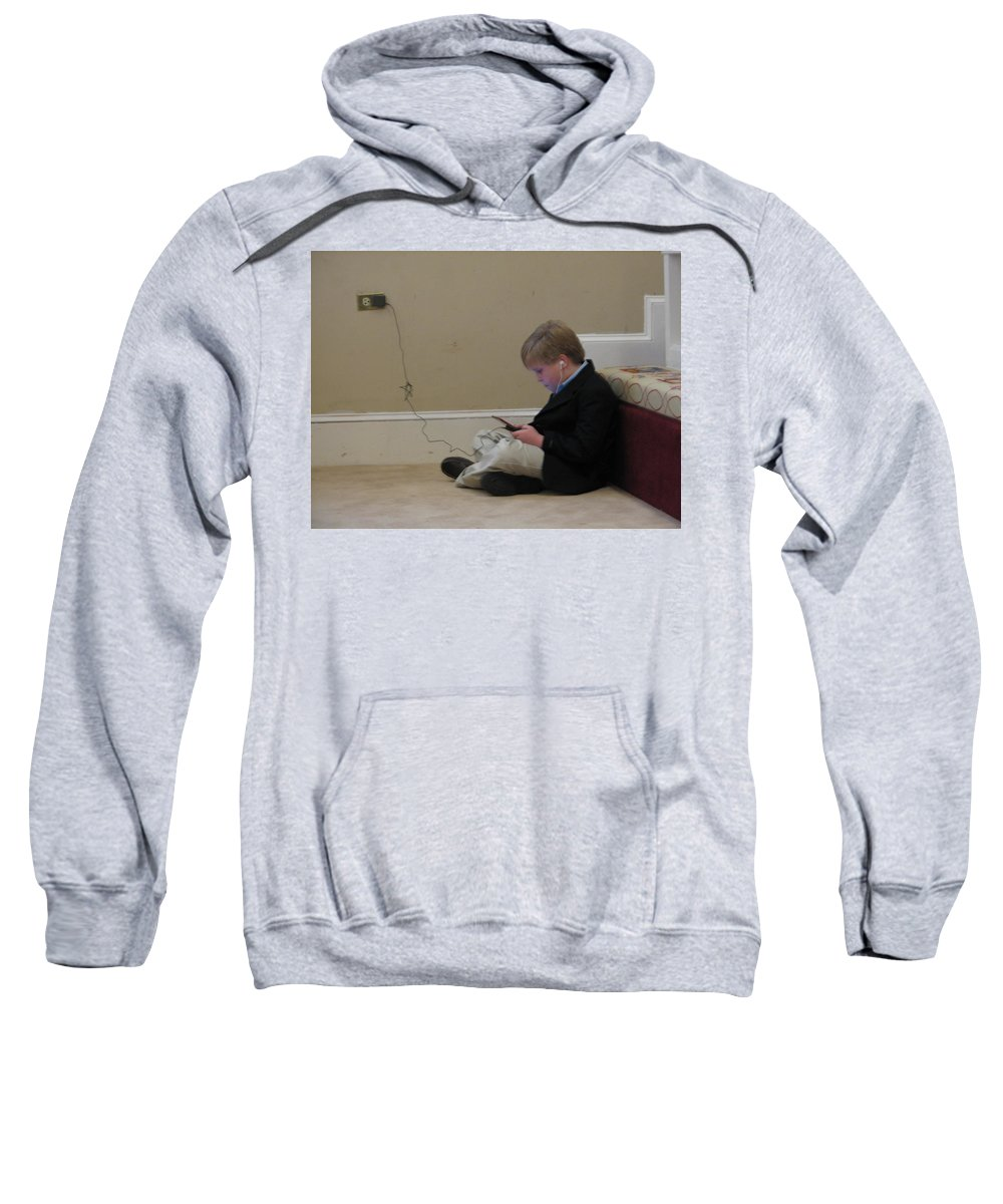 Ds Sweatshirt featuring the photograph Rob Plays by Kelly Mezzapelle
