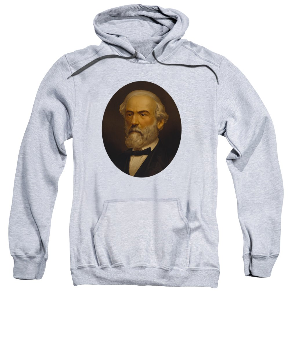 Robert E Lee Sweatshirt featuring the painting Robert E. Lee Painting by War Is Hell Store