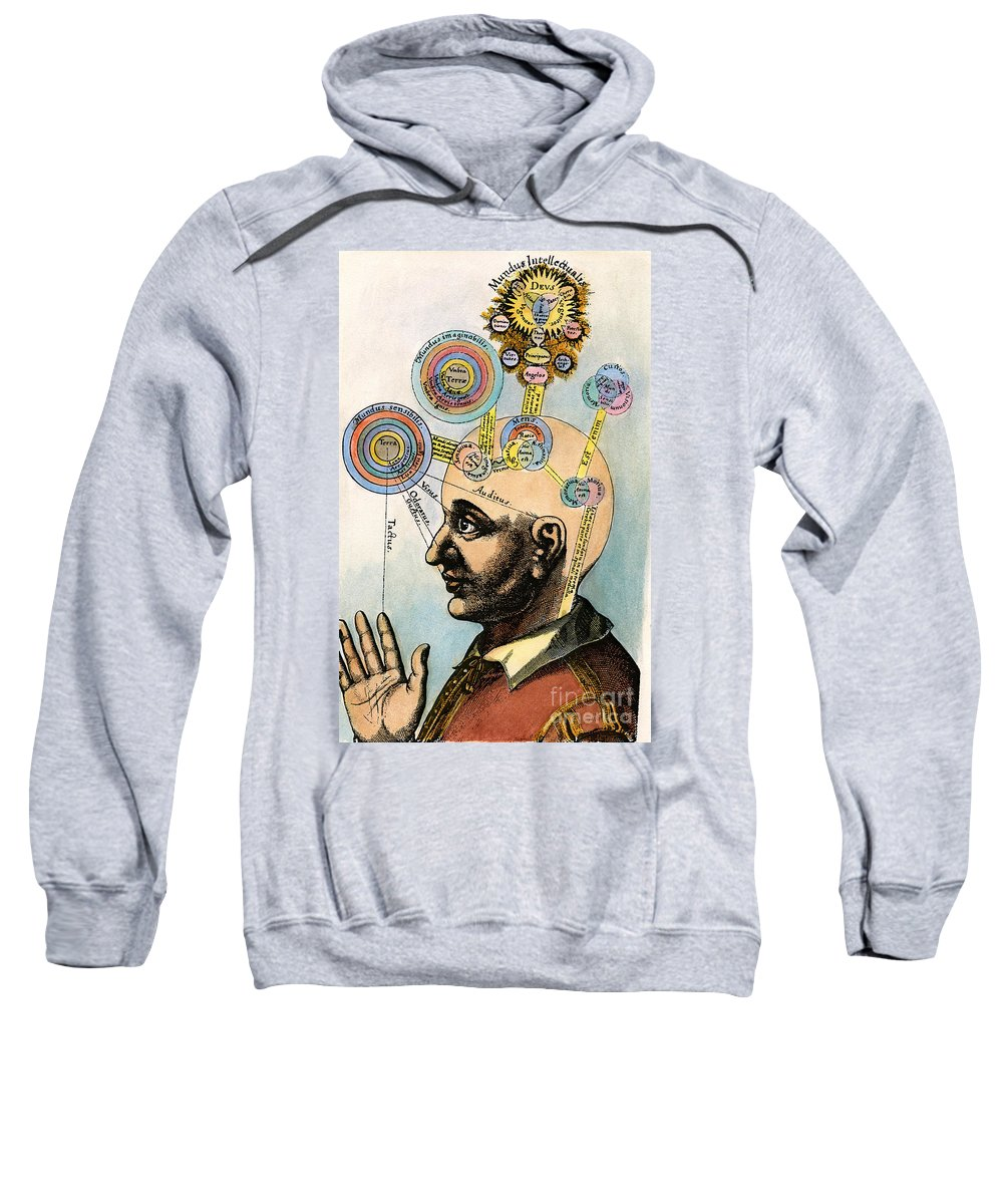Brain Sweatshirt featuring the drawing Robert Fludd, 1574-1637 by Granger