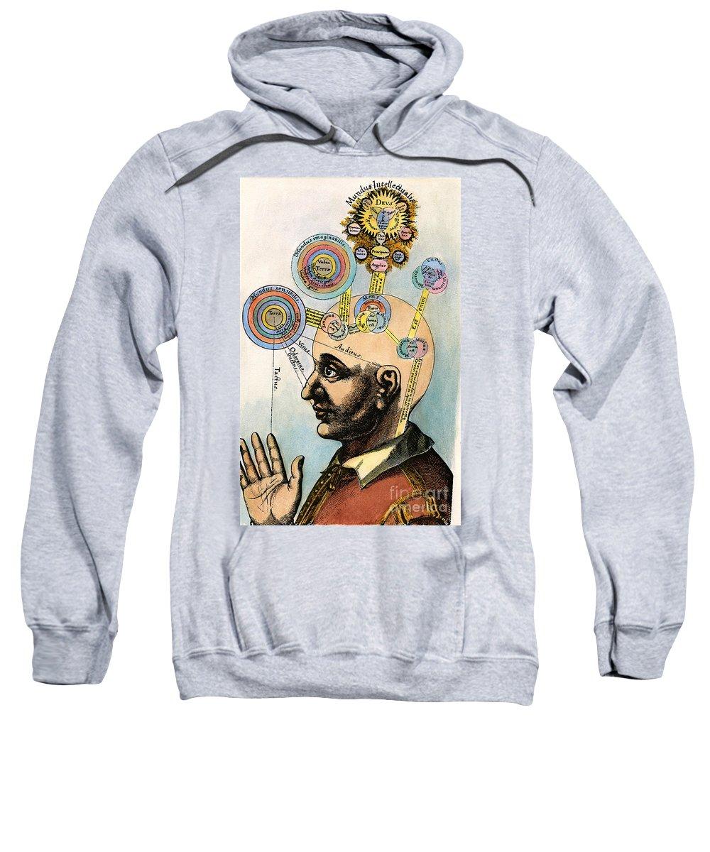 Brain Sweatshirt featuring the drawing Robert Fludd, 1574-1637 by Granger