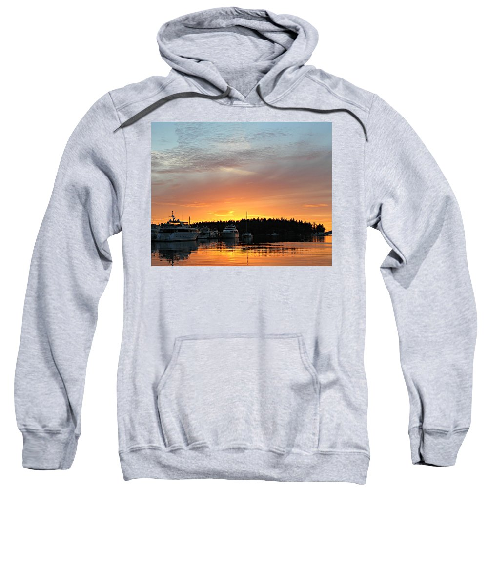 Sunset Sweatshirt featuring the photograph Roche Harbor Sunset by Steve Natale