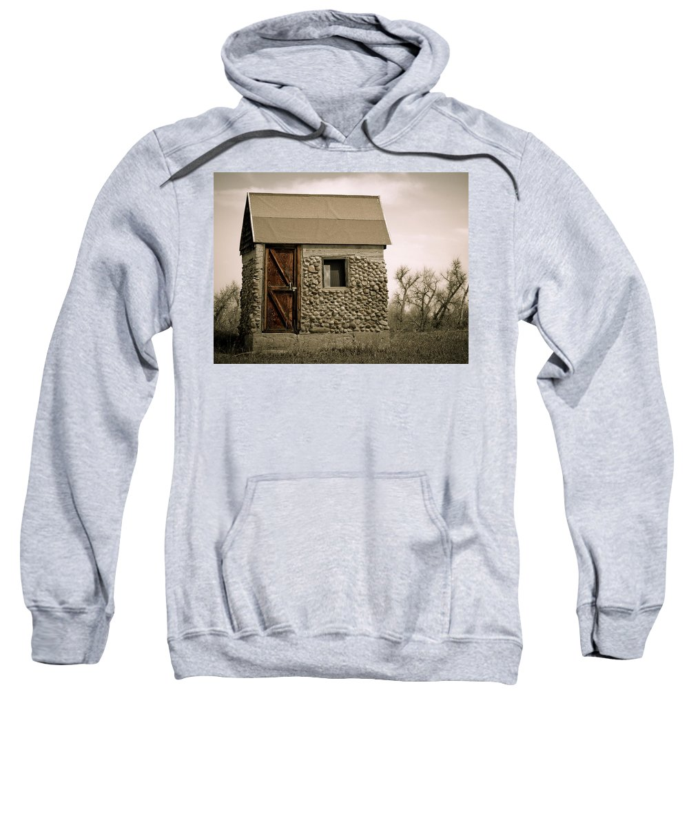 Americana Sweatshirt featuring the photograph Rock Shed 2 by Marilyn Hunt