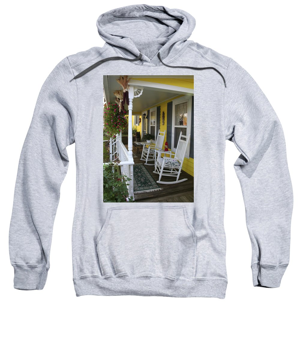 Rocking Chair Sweatshirt featuring the photograph Rockers On The Porch by Margie Wildblood