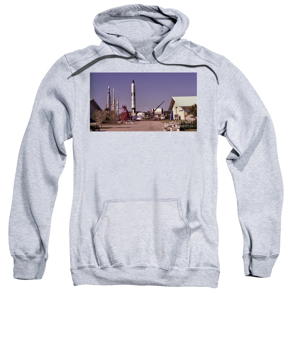Rocket Sweatshirt featuring the photograph Rocket Garden by Richard Rizzo