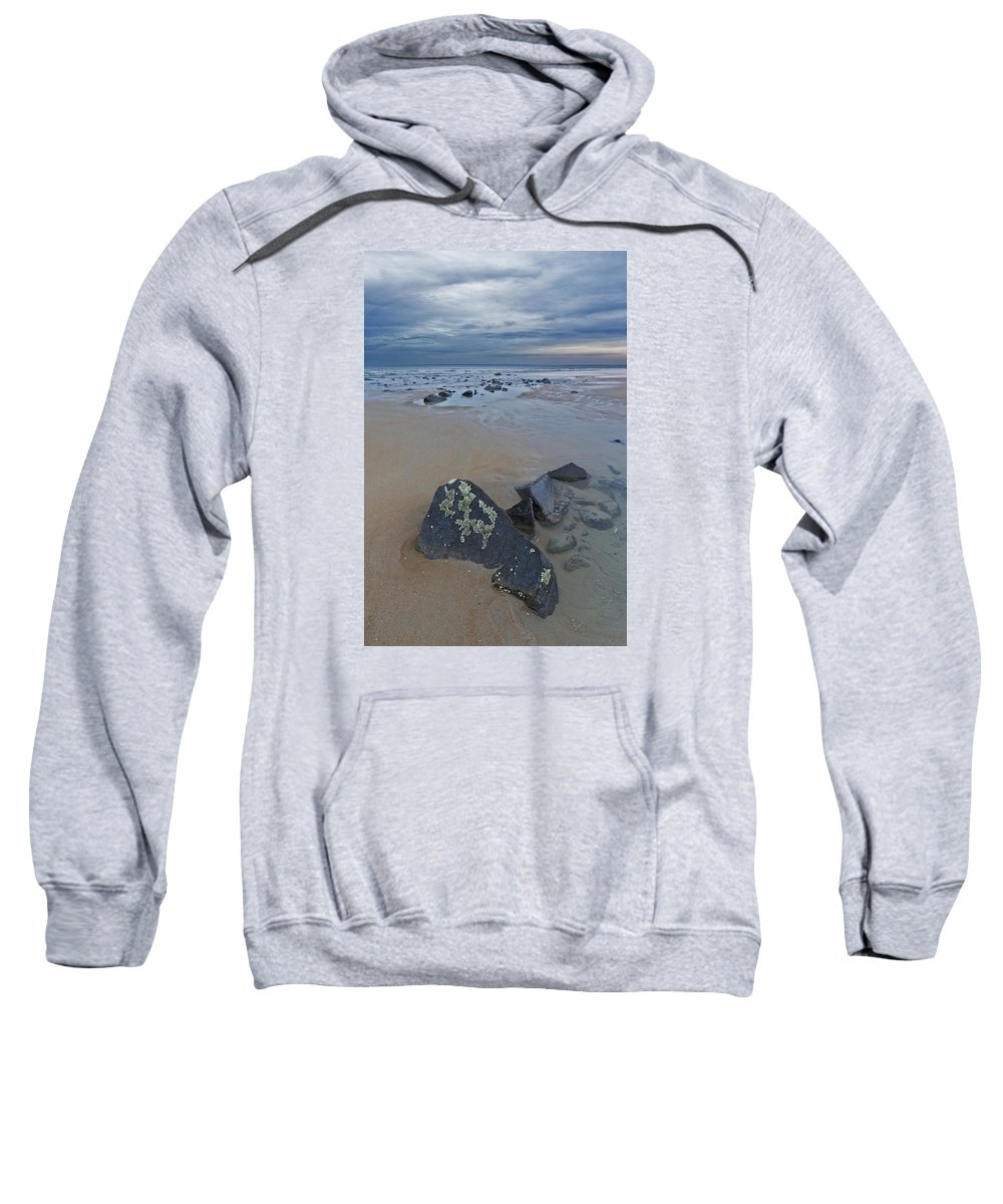 New England Sweatshirt featuring the photograph Rocks And Barnacles, Plum Island by Scott Snyder