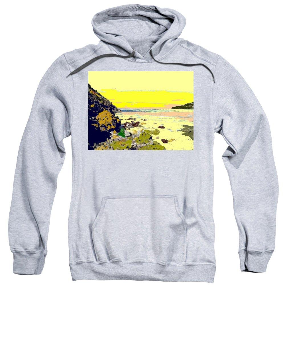 Beach Sweatshirt featuring the photograph Rocky Beach by Ian MacDonald
