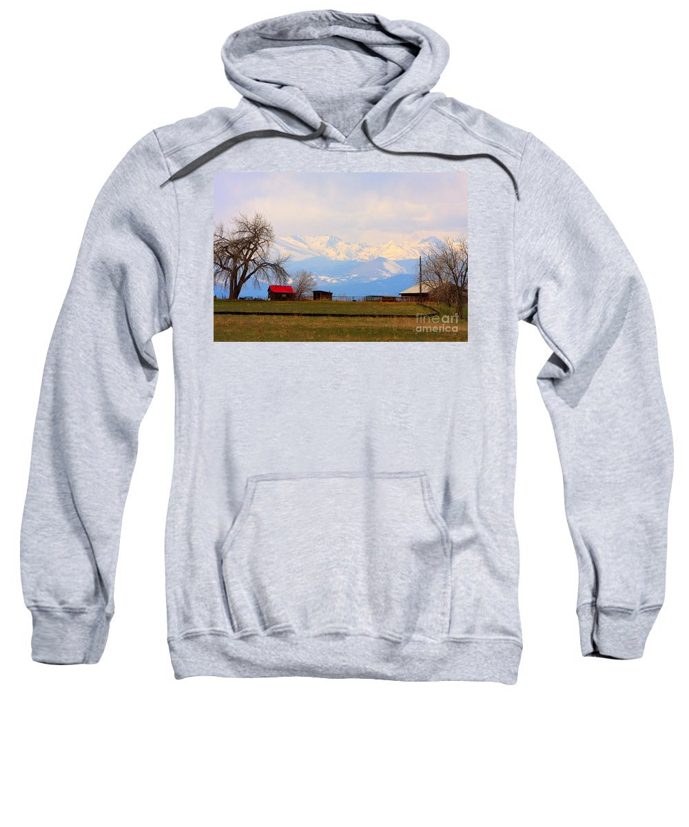 Rocky Mountains Sweatshirt featuring the photograph Rocky Mountain Boulder County View by James BO Insogna