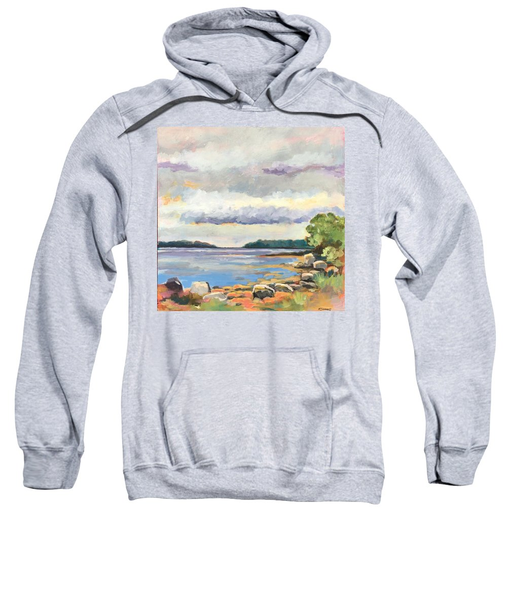 Sweatshirt featuring the painting Rocky Shore by Rachel Sunnell