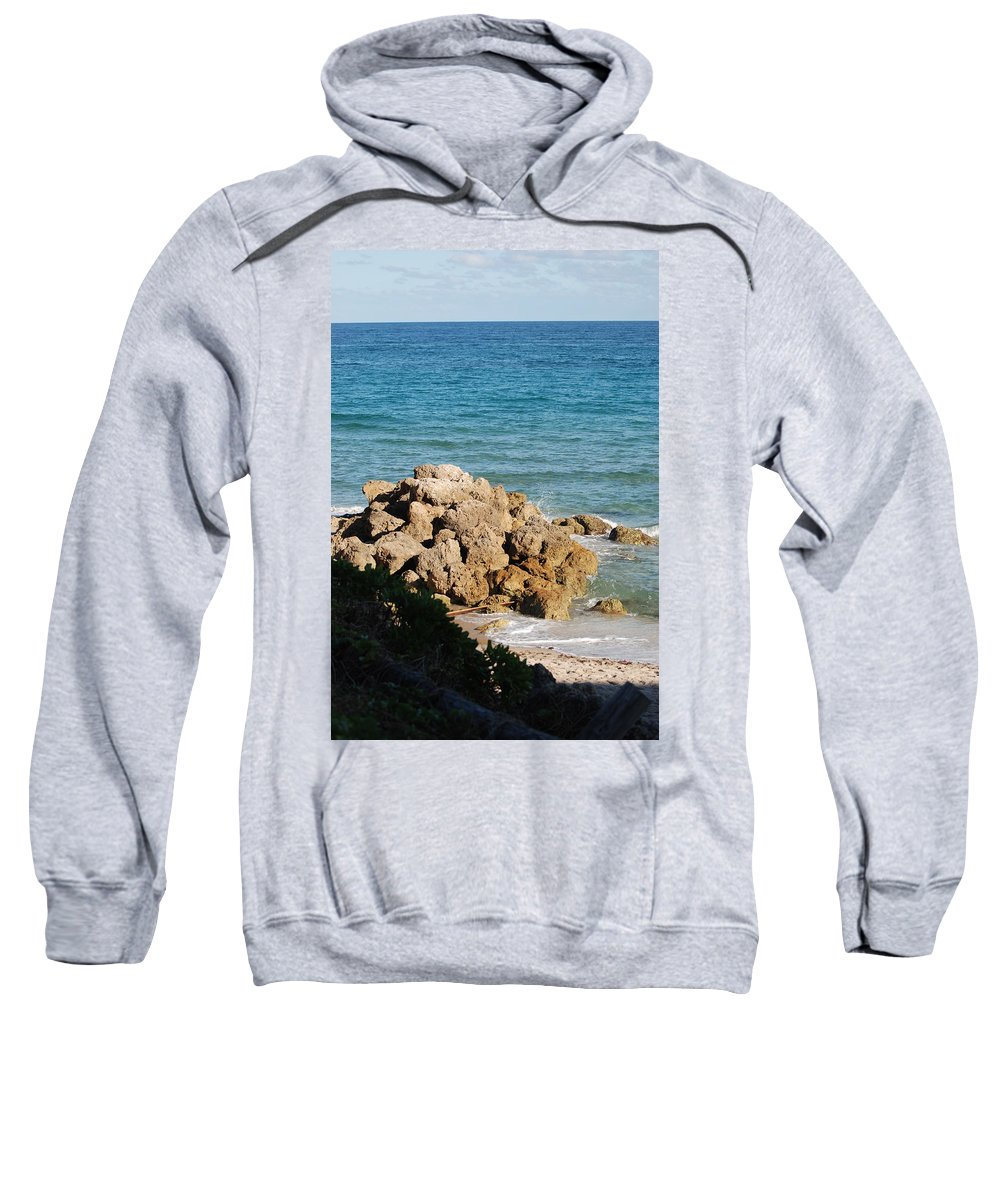 Sea Scape Sweatshirt featuring the photograph Rocky Shoreline by Rob Hans