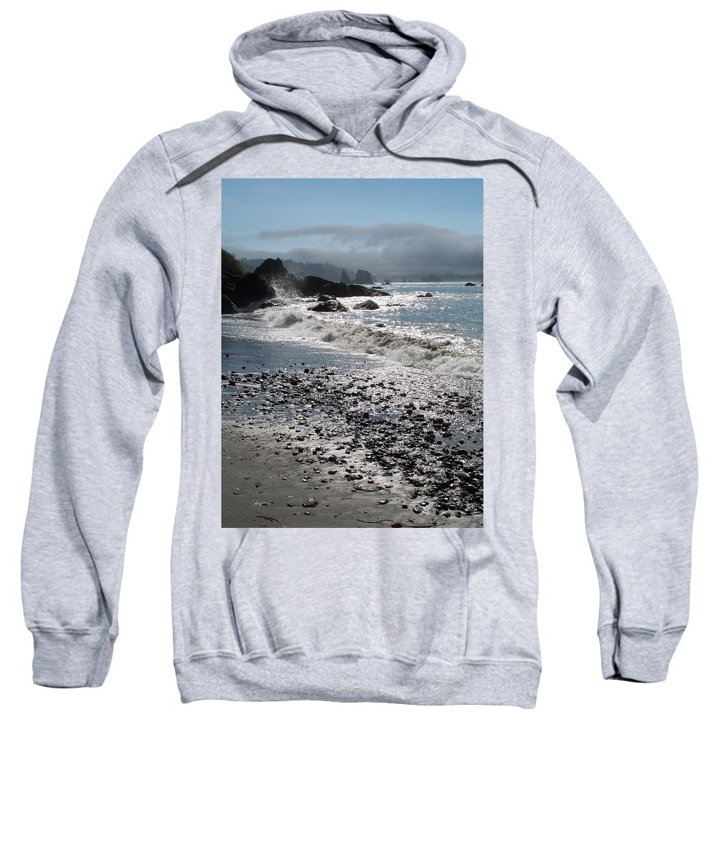 Ocean Sweatshirt featuring the photograph Rocky Shores by Gale Cochran-Smith