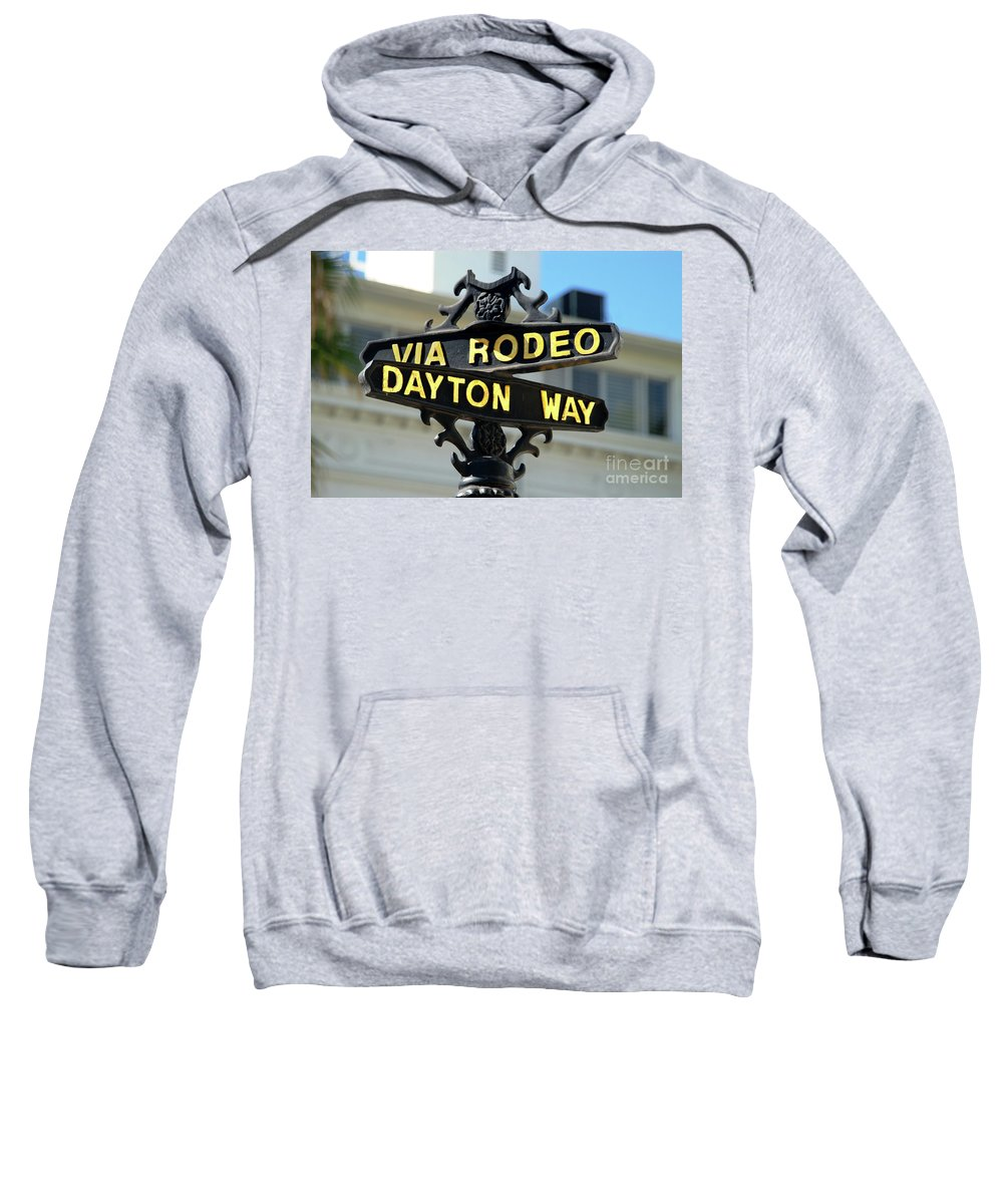 Rodeo Drive Sweatshirt featuring the photograph Rodeo Drive In Beverly Hills by Mariola Bitner