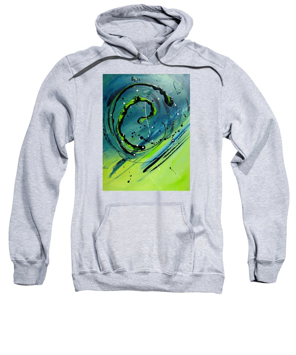 Abstract Sweatshirt featuring the painting Rolling Down The River by Mary Kay Holladay