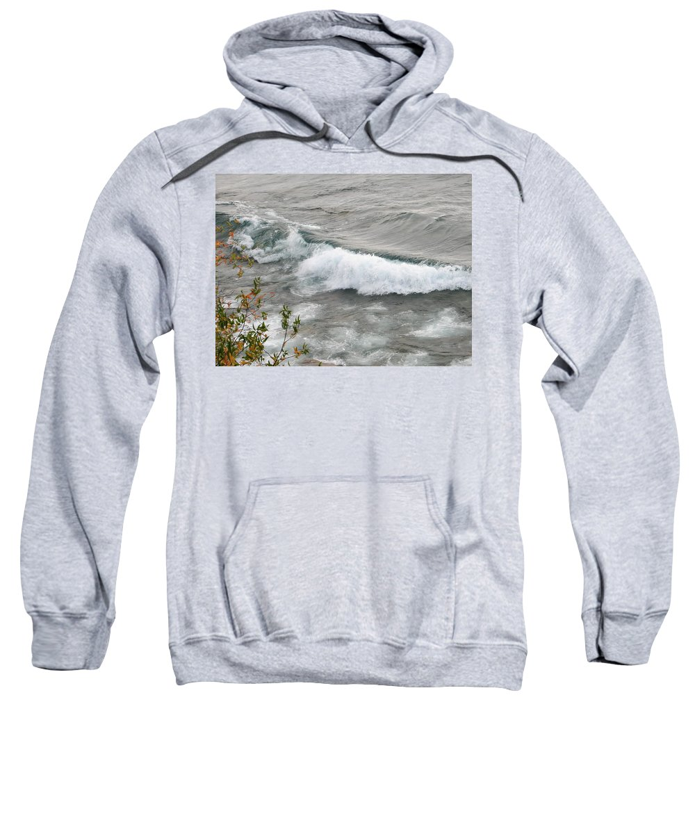 Wave Sweatshirt featuring the photograph Rolling by Kelly Mezzapelle