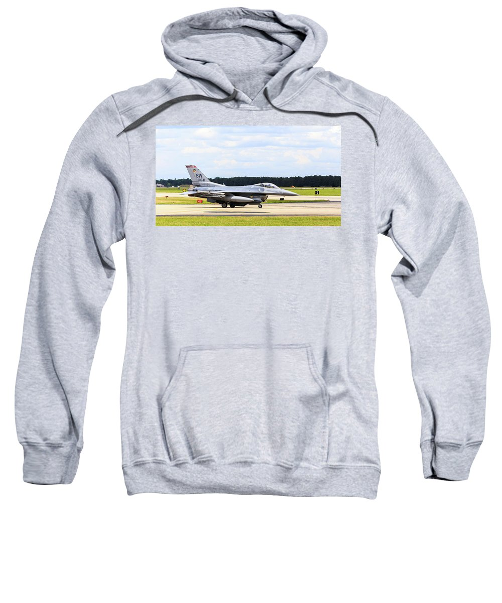 Airshow Sweatshirt featuring the photograph Rolling To Position by Charles Hite