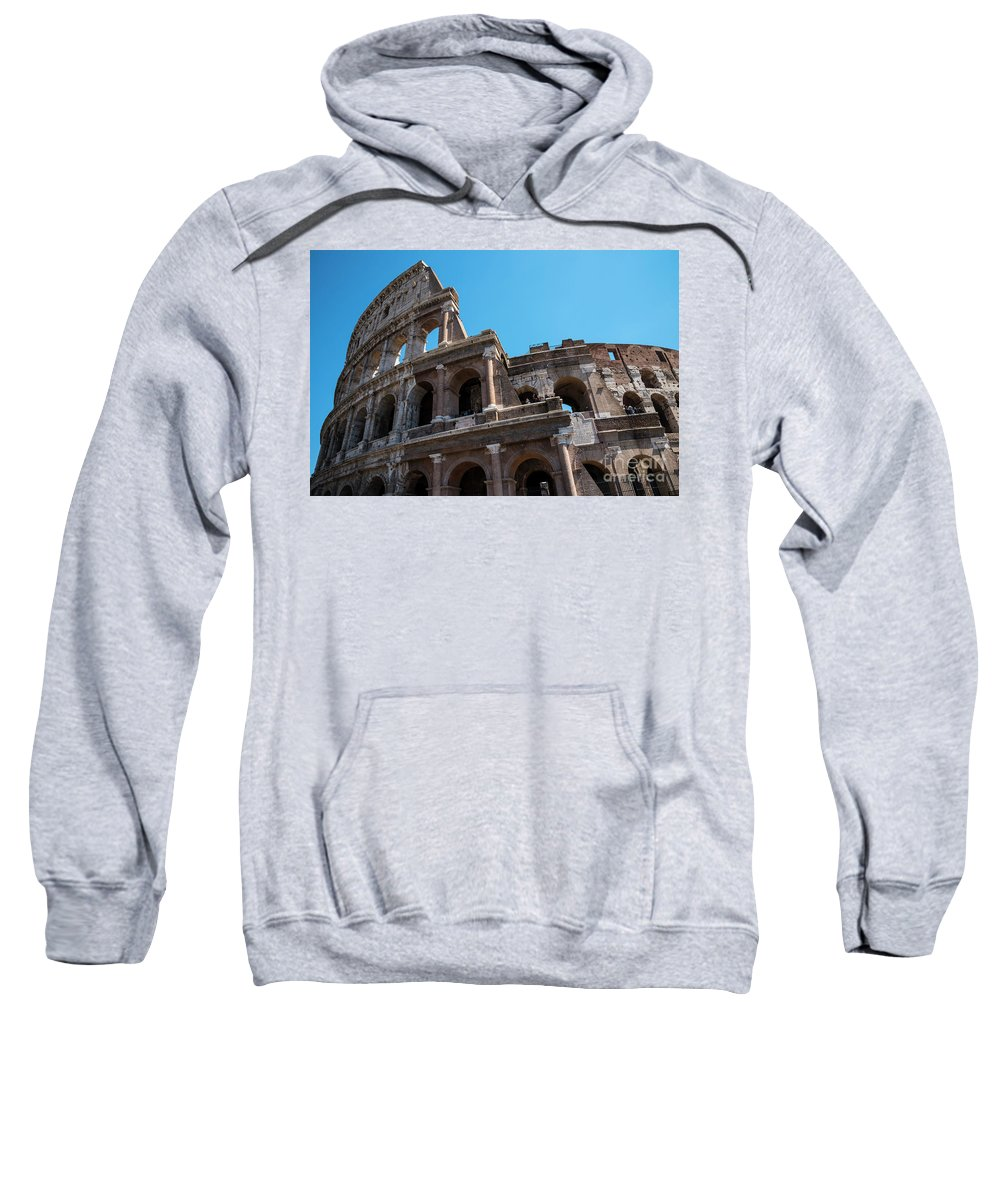 The Colosseum Of Rome Sweatshirt featuring the photograph The Colosseum Of Rome by Brenda Kean