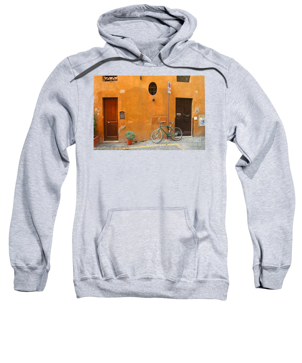 Rome Sweatshirt featuring the photograph Roman Doors by Thomas Marchessault