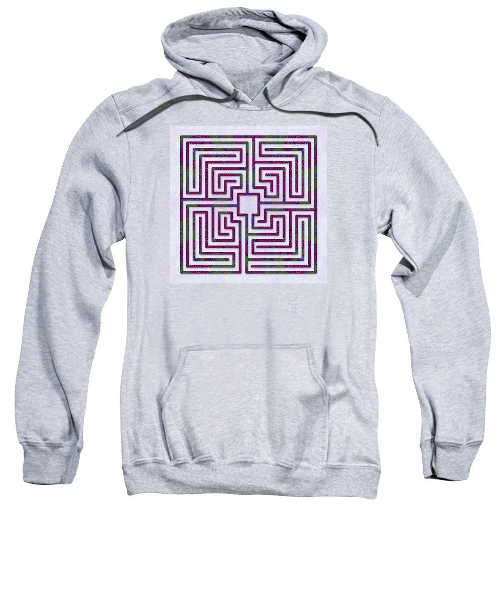 Labyrinth Art Sweatshirt featuring the digital art Roman - Passion by Fine Art Labyrinths