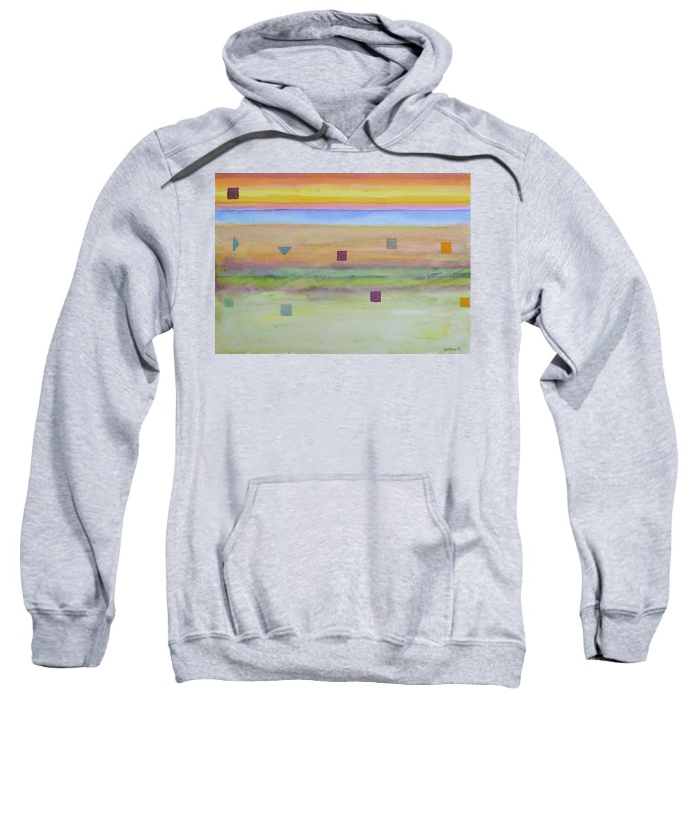 Landscape Sweatshirt featuring the painting Romantic Landscape by Heidi Capitaine