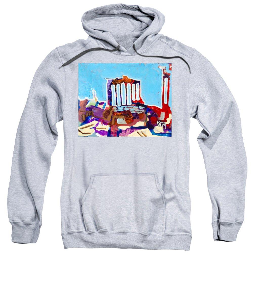 Rome Sweatshirt featuring the painting Rome by Kurt Hausmann