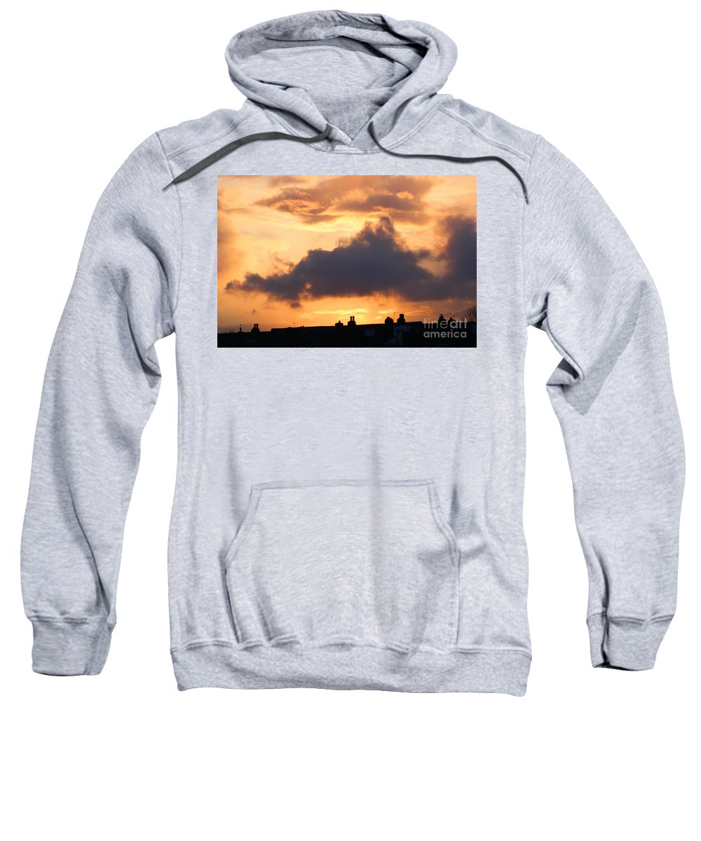 Sunset Sweatshirt featuring the photograph Rooftop Sunset 2 by Carol Lynch