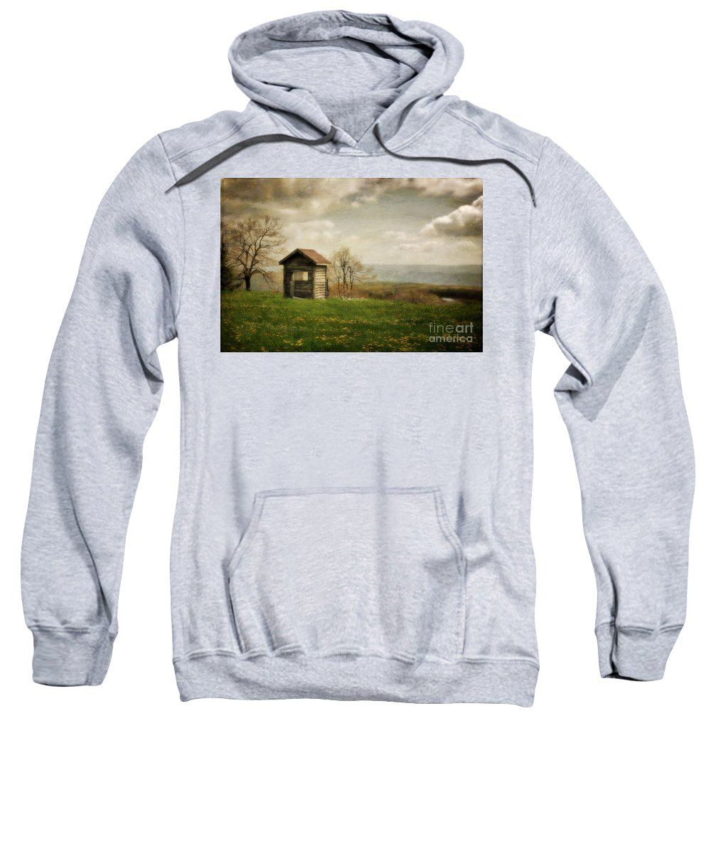 Room With A View Sweatshirt featuring the photograph Room With A View by Lois Bryan