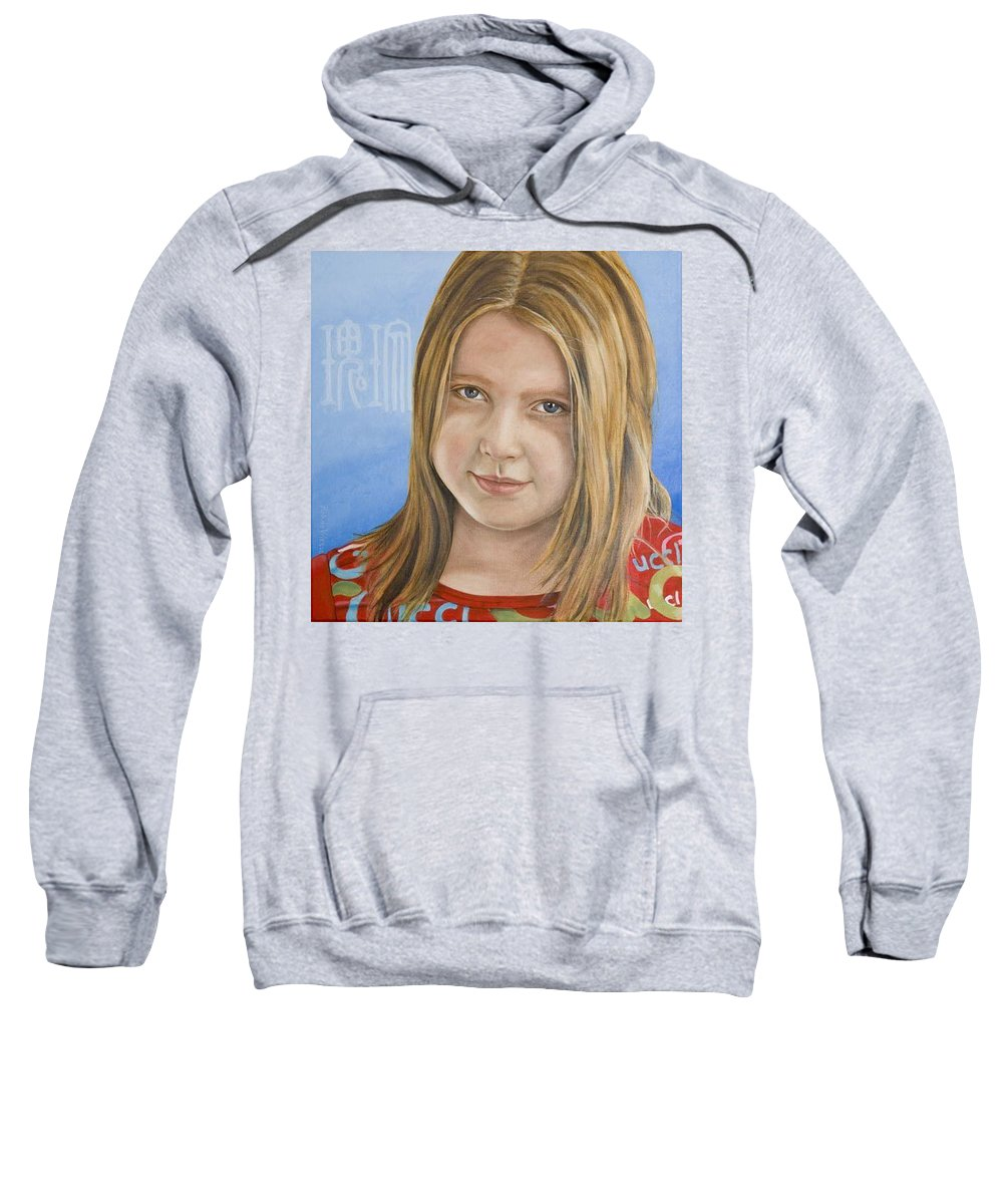Portrait Sweatshirt featuring the painting Roos by Rob De Vries