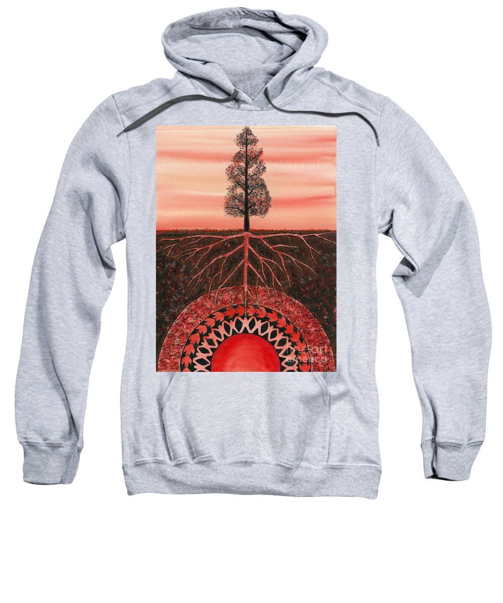 Chakra Sweatshirt featuring the painting Root Chakra by Catherine G McElroy