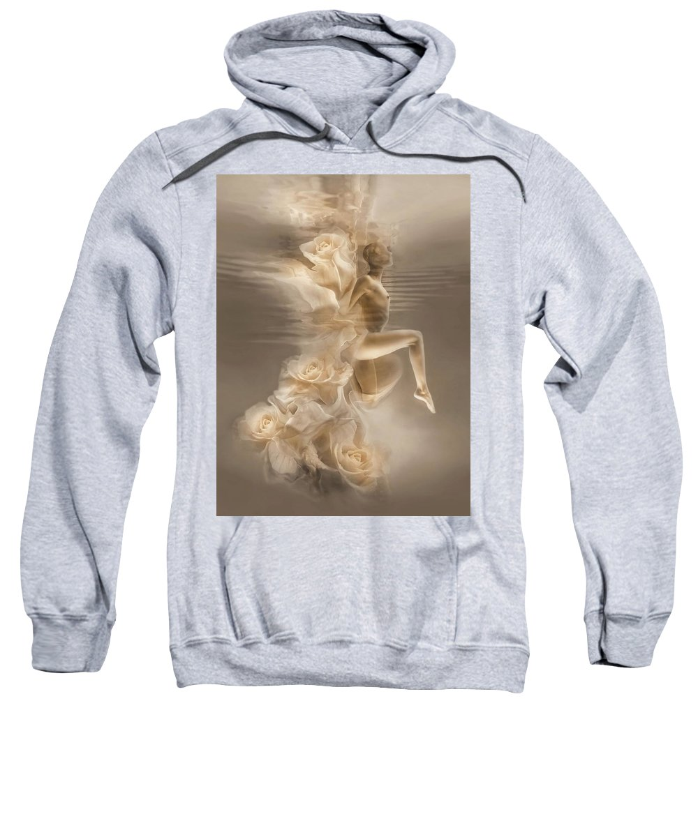 Sweatshirt featuring the photograph Rose Dance .vers.2 by Carlos Ferreira