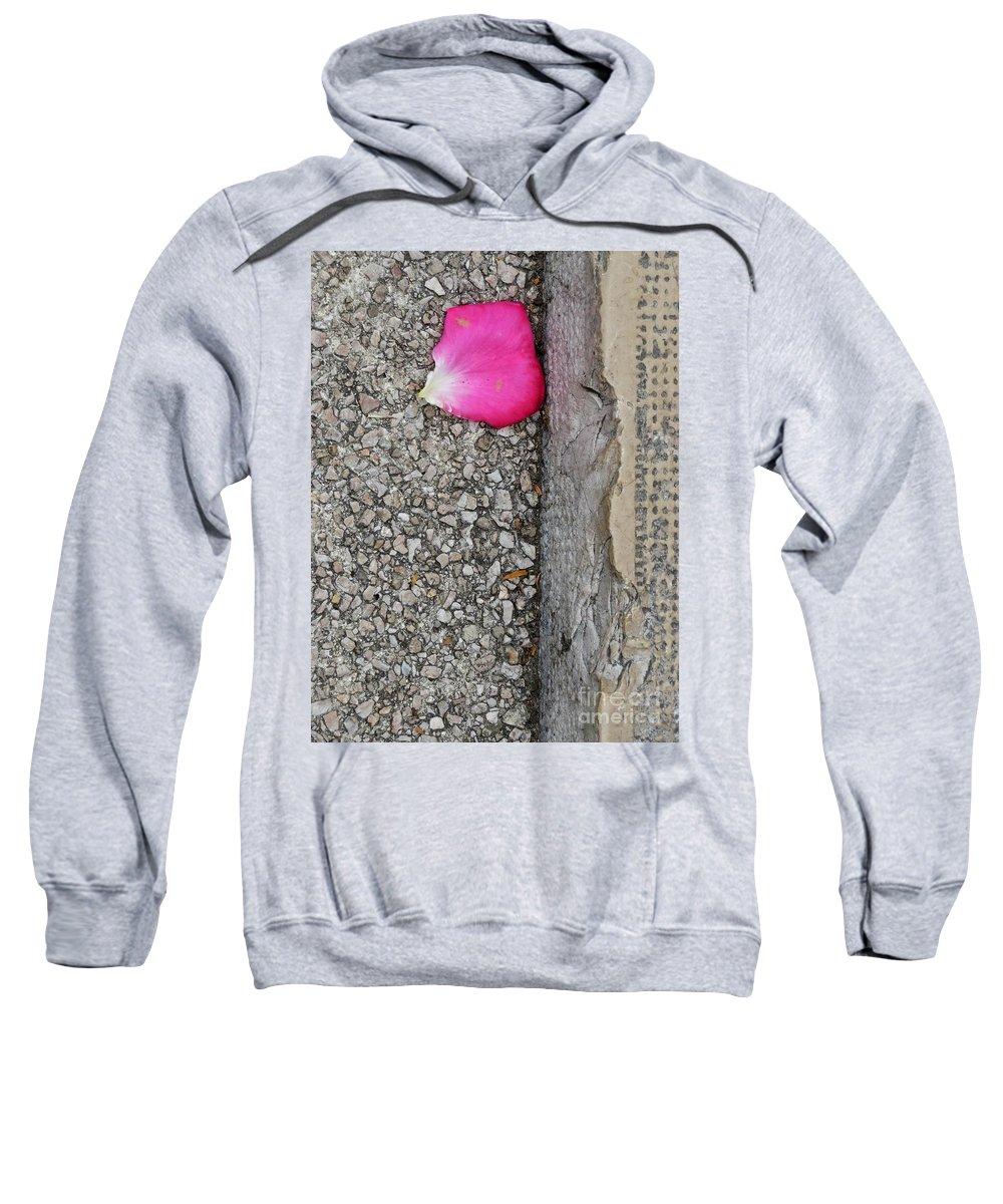 Rose Sweatshirt featuring the photograph Rose Petal by Diana Rajala