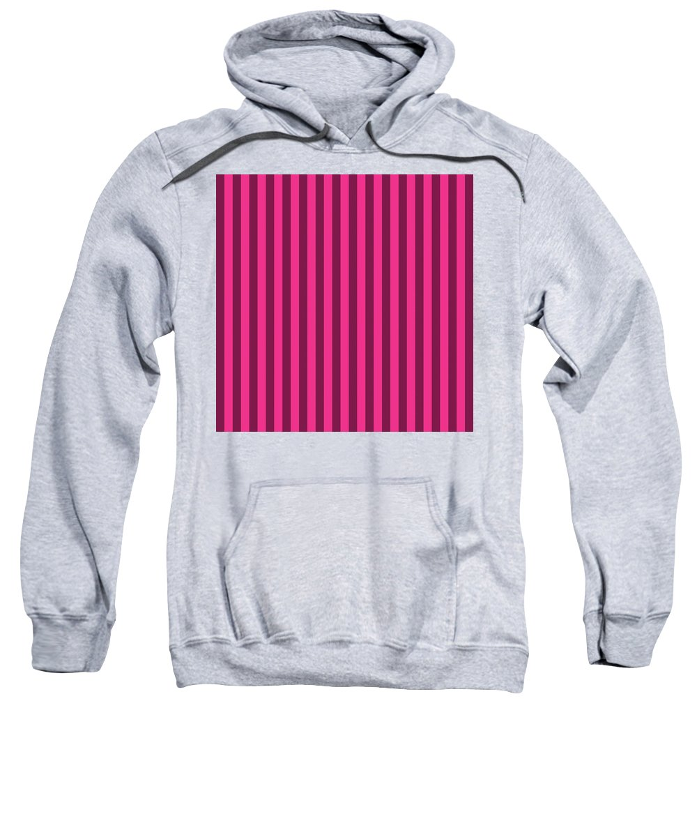 Rose Sweatshirt featuring the digital art Rose Red Striped Pattern Design by Ross
