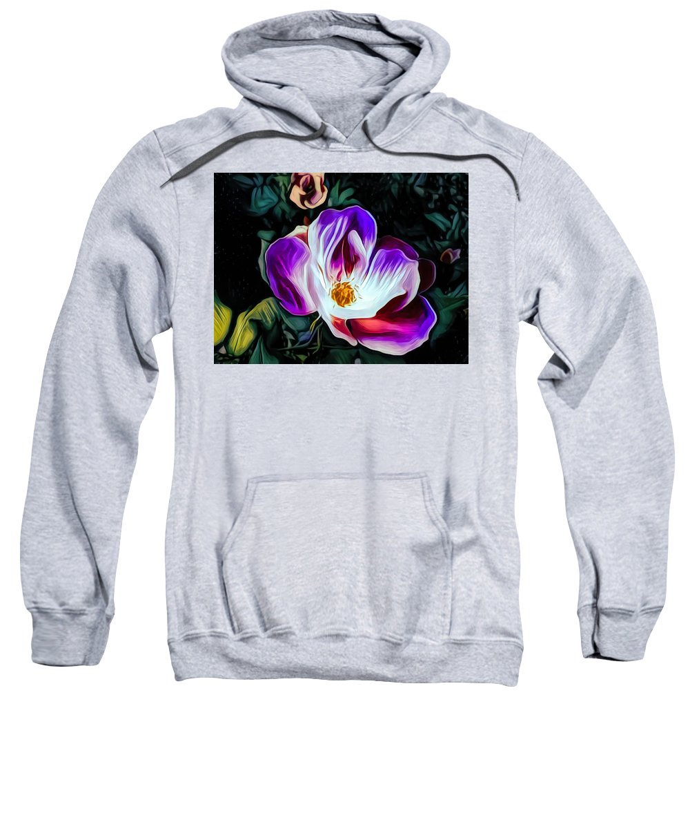 Photograph Sweatshirt featuring the mixed media Rose With No Boundaries by Debra Lynch