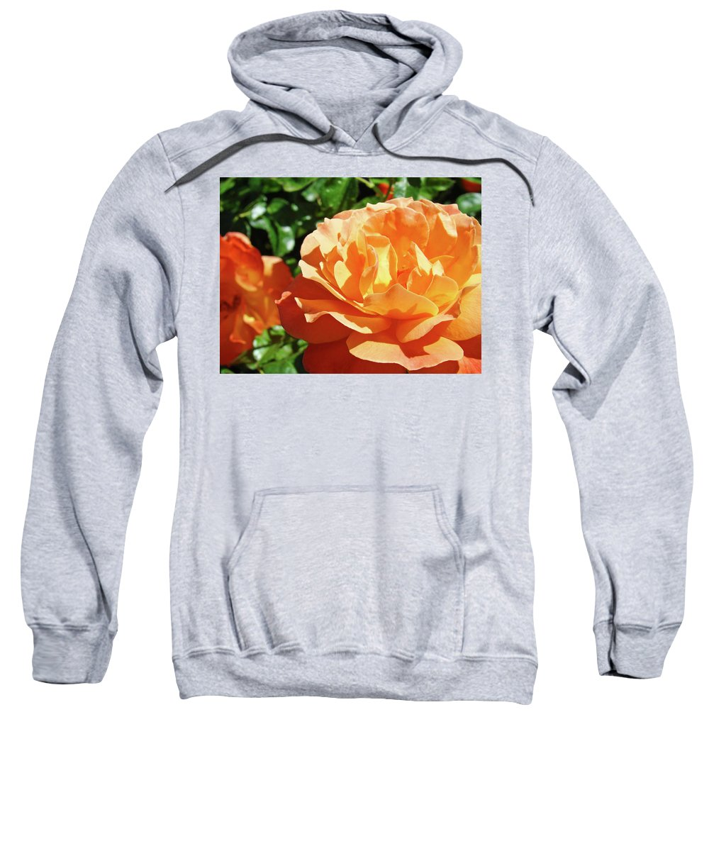 Rose Sweatshirt featuring the photograph Roses Art Prints Orange Rose Flower 11 Giclee Prints Baslee Troutman by Baslee Troutman