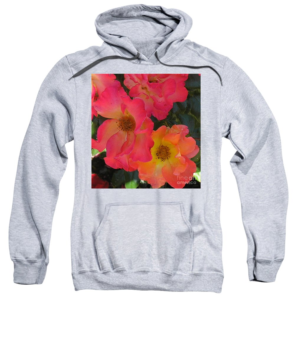 Rose Sweatshirt featuring the photograph Roses by Dean Triolo