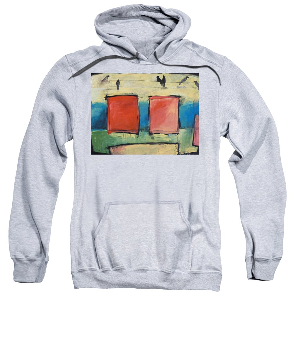 Rothko Sweatshirt featuring the painting Rothko Meets Hitchcock by Tim Nyberg