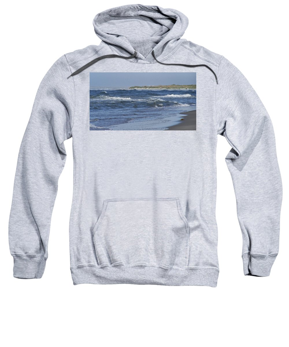Ocean Sweatshirt featuring the photograph Rough Day At The Beach by Teresa Mucha
