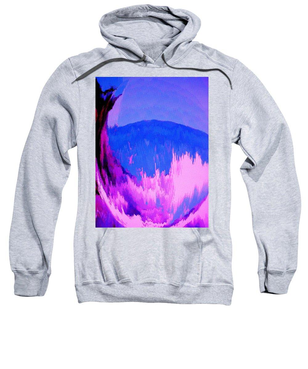 Abstract Sweatshirt featuring the digital art Rough Seas In Dominica by Ian MacDonald