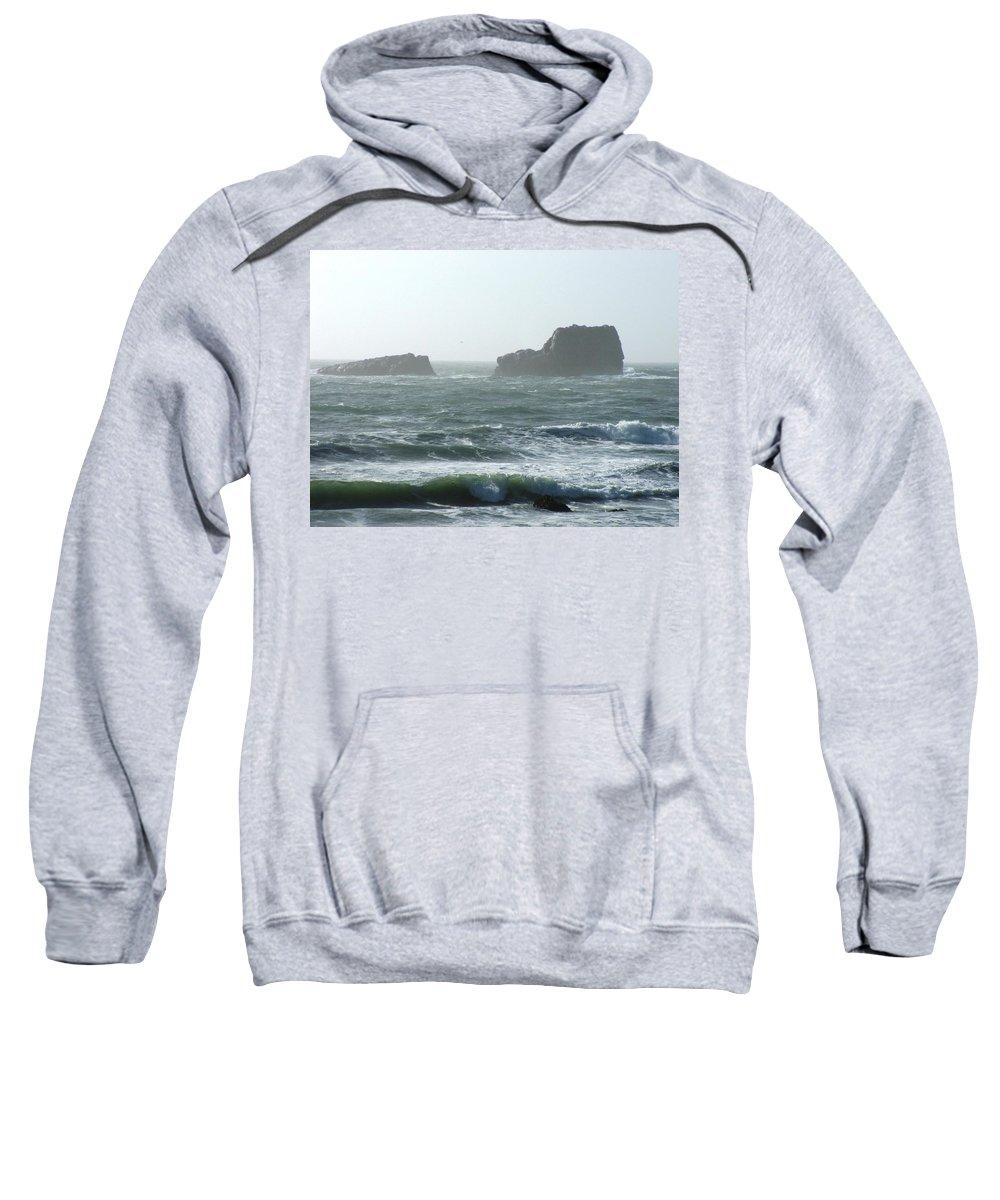 Oceanes Sweatshirt featuring the photograph Rough Waters by Shari Chavira