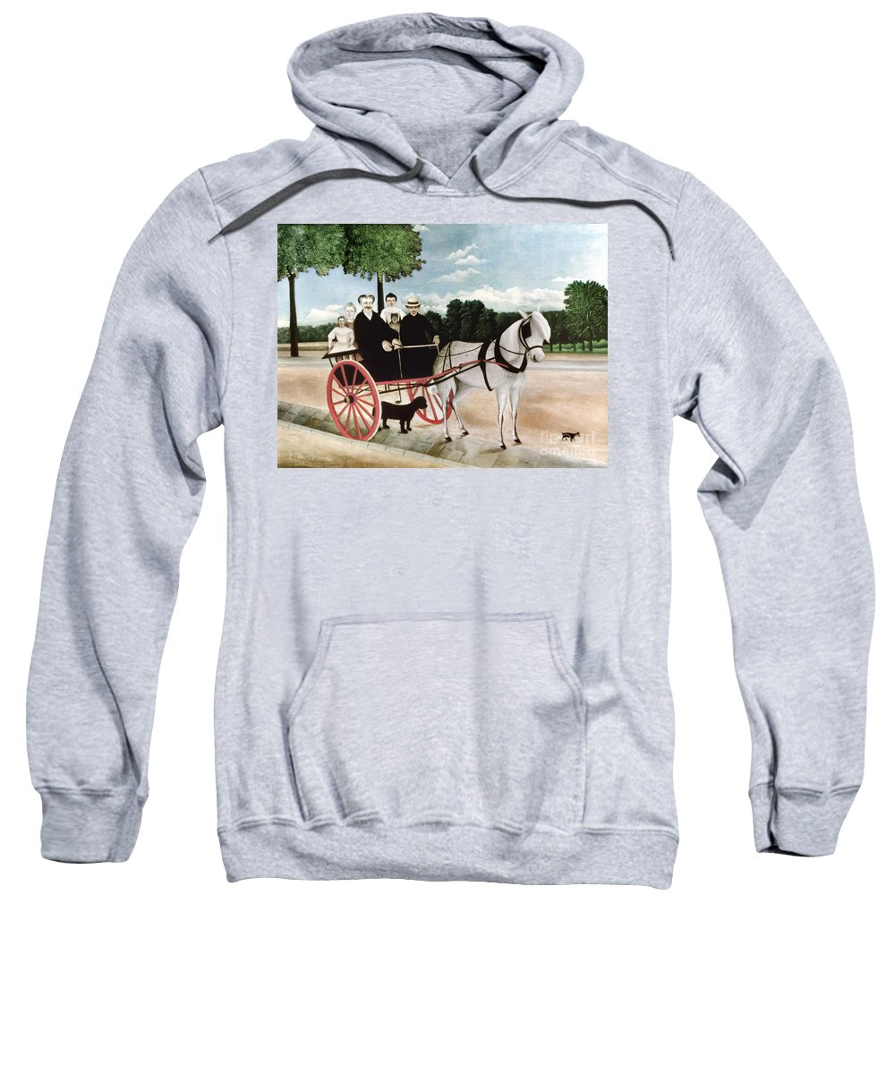 1908 Sweatshirt featuring the photograph Rousseau: Cart, 1908 by Granger